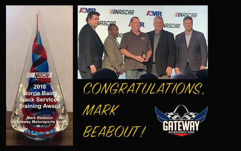 Gateway Fire & Safety Team's Mark Beabout wins prestigious NASCAR award